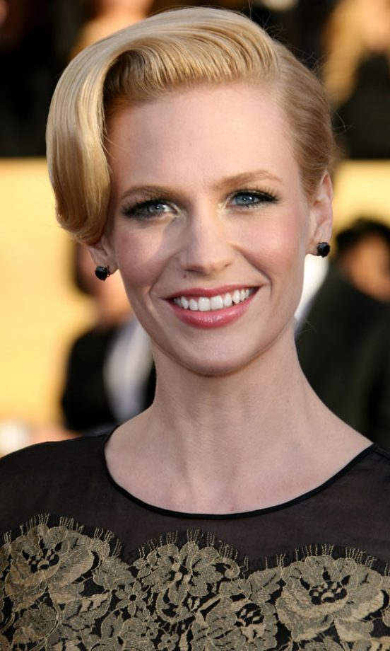January Jones Wowed With A Retro Side-Swept Hairstyle At The Screen Actors Guild Awards 2011