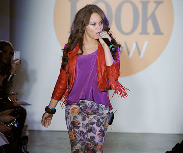 Alexis Jordan hit the catwalk to sing Happiness At The LOOK Show SS11