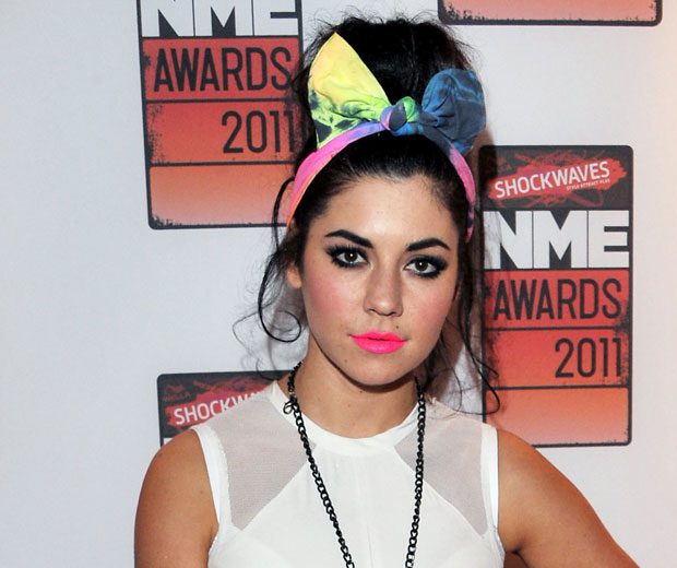 Check out Marina Diamandis' amazing fluoro lipstick at the NME Awards 2011 and get a step-by-step guide on how to create the look with our make-up how to video