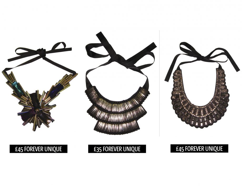 Shop the amazing statement necklaces from the spring/summer 2011 collection at high street fashion brand, Forever Unique
