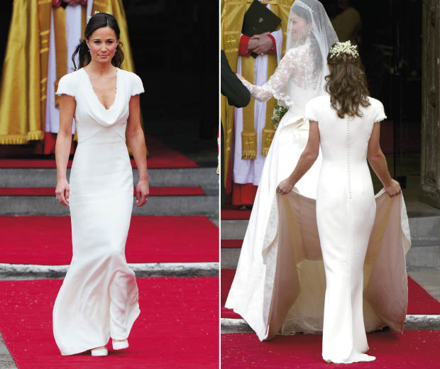 At The Royal Wedding Pippa Middleton S Dress: Pippa Middleton's Bottom Becomes A Facebook Hit