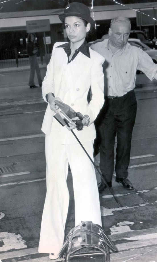 Celebrity Fashion Trend The Iconic White Trouser Suit Look