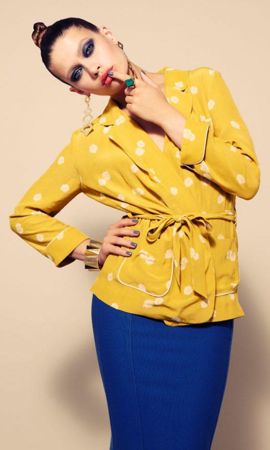 Topshop Jacket, £55, Skirt, £30, Earrings, £16.50, Bangle, £12.50