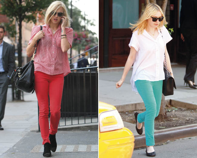 Celeb Fashion Trend: Coloured Skinny Jeans | Look