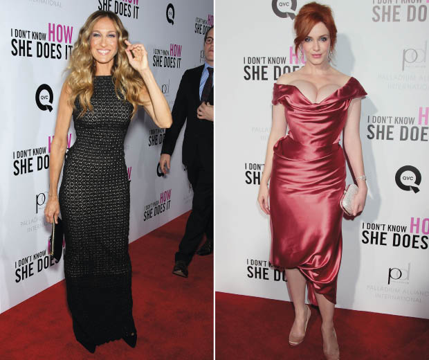 Sarah Jessica Paker and Christina Hendricks Looking Amazing at the 'I Don't Know How She Does It Premiere.'