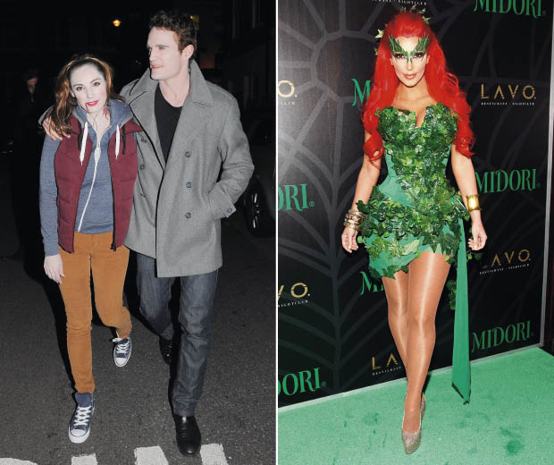 Loving kelly brook and kim kardashians halloween costumes look kelly brook as bella swan and kim kardashian as poison ivy dressed up for halloween solutioingenieria Gallery