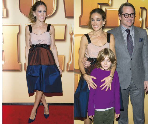 Sarah Jessica Parker looked stunning in a Narciso Rodriguez dress at a film premiere