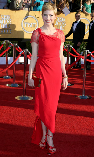 See Michelle Williams wearing Valentino at Screen Actor's Guild Awards 2012