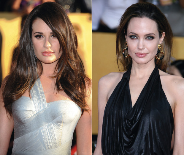Check out the best celebrity hairstyles at the Screen Actors Guild Awards 2012 with Angelina Jolie and Lea Michele rocking simple hairstyles