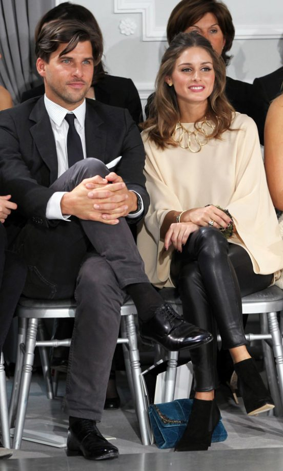 Olivia Palermo And Johannes Huebl At The Dior Haute Couture Fashion Show SS12