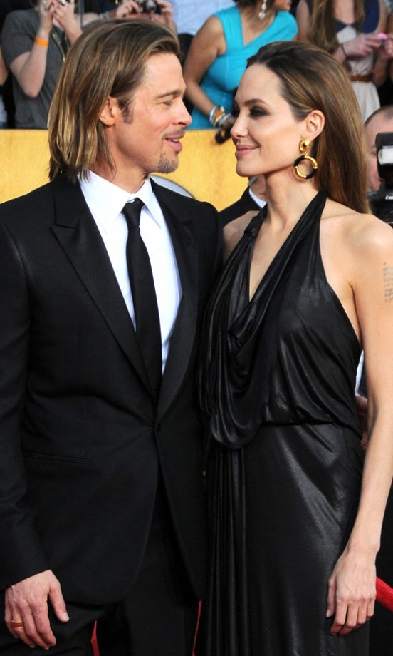 Angelina Jolie And Brad Pitt Hit The Screen Actors Guild Awards 2012