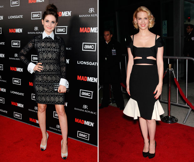 January Jones and Alison Brie Impress at Mad Man premiere
