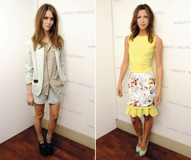Sunday Girl and Margo Stilley show off two ways to wear pastels at the Harvey Nichols SS12 fashion show