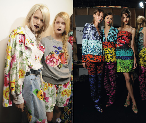 Ashish and Mary Katrantzou did techno florals for spring/summer 2012