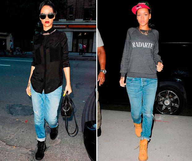 Rihanna Nails Casual Fashion In New York Look
