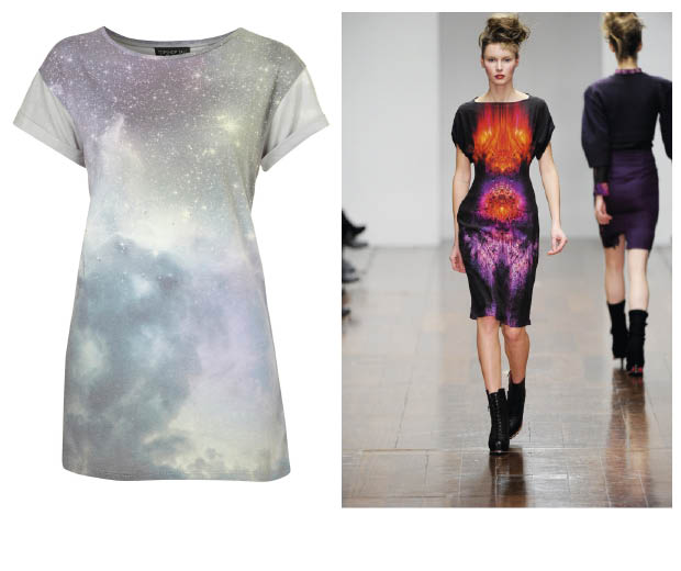Topshop £20 sci-fi T-shirt and Jean-Pierre Braganza does futuristic, too