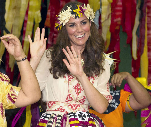 Kate Middleton shows off her dance moves in Tuvalu