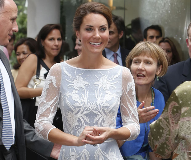 Kate Middleton put on a brave face following the leak of her topless pictures