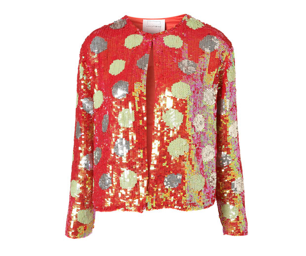 High street fashion shop Topshop's polka dot sequin jacket by Louise is our hot fashion buy of the day