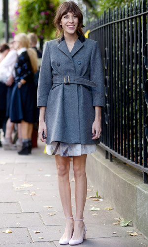 Alexa Chung In A Stylish Outfit At London Fashion Week SS13, September 2012