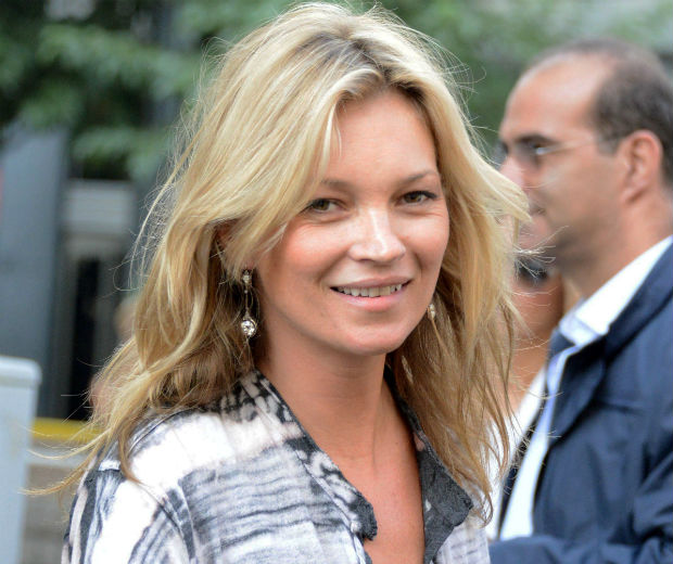 Kate Moss was all smiles during her shopping trip