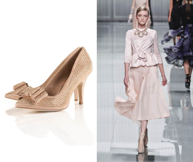 Get the '50s look, as seen at Dior, with Topshop's bow heels