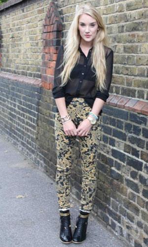 Street Style Fashion Trend Spot Baroque Prints Look