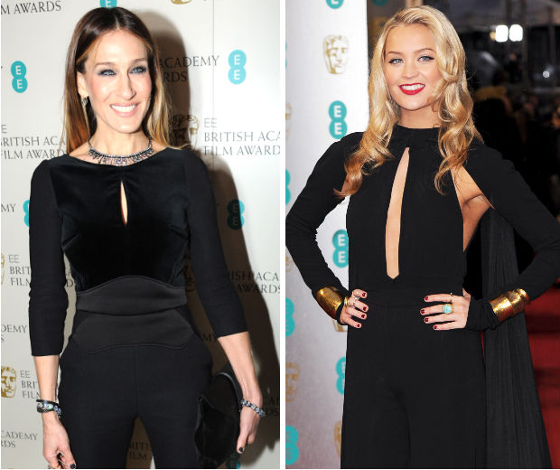 Sarah Jessica Parker and Laura Whitmore rocked almost identical outfits