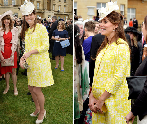 Kate Middleton wore a stunning yellow coat by Emilia Wickstead to the tea party