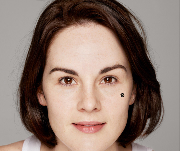 Michelle Dockery has been photographed without any make-up for Children In Need