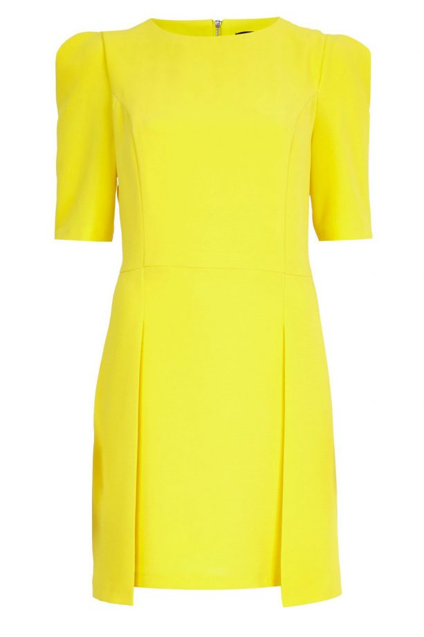 River Island Yellow Stepped Hem Shift Dress, £38