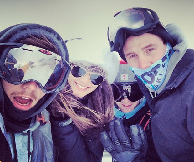 Louis whisked Eleanor off for a romantic trip to the slopes