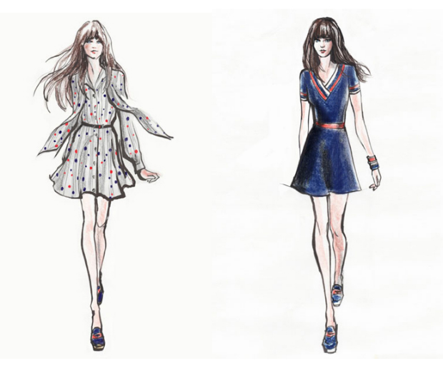 Fashion Design App Flat Sketches for phone and tablet 70