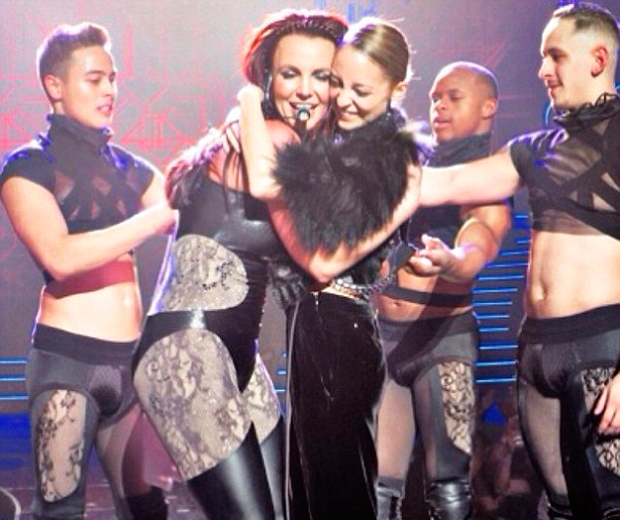 Britney Spears pulls Nicole Richie up on stage at her show in Las Vegas