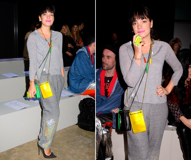 Lily Allen nails casual cool at Ashish AW14 during London Fashion Week