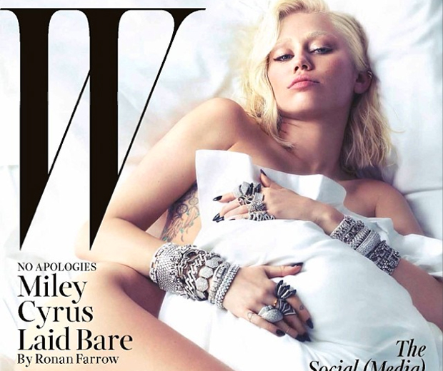 Miley Cyrus goes nude for W Magazine