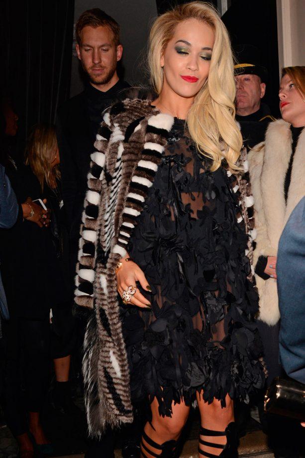 Rita Ora At The Brits After Parties 2014