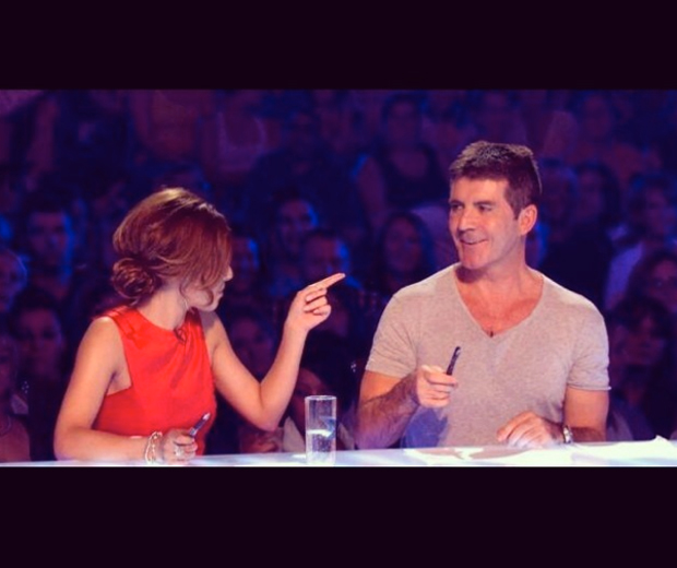Cheryl shares a throwback snap of her and Simon Cowell on X Factor... Hint hint?