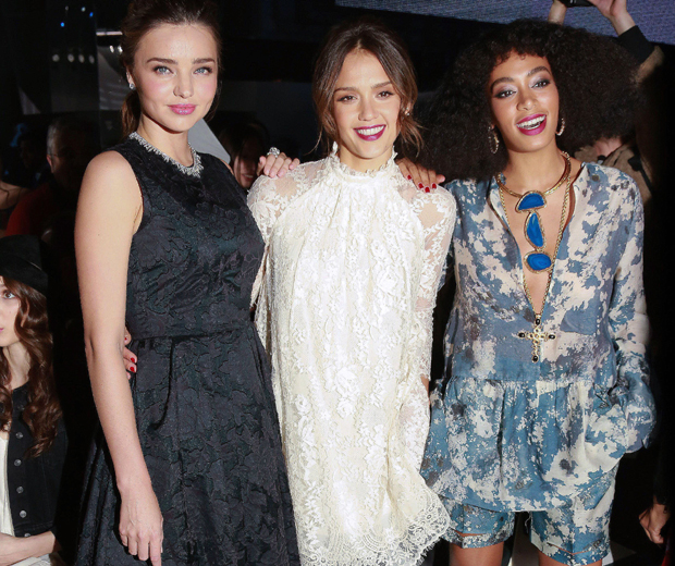 Jessica and Miranda were the belles of the H&M ball at Paris Fashion Week