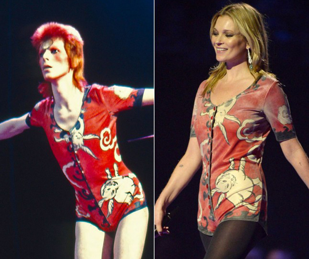 Image result for kate moss bowie brits