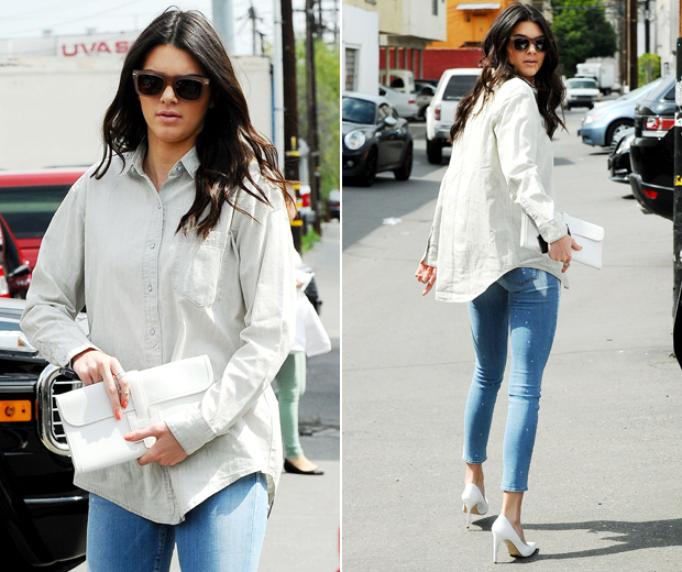 Kendall Jenner Shows How To Wear Your Boyfriend's Shirt