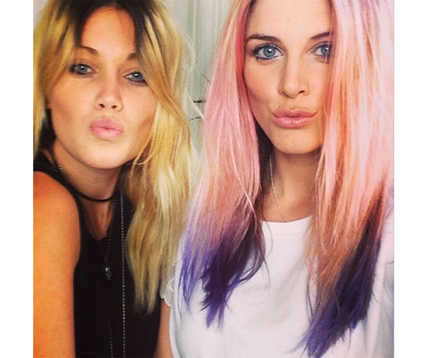 Ashley James shows off new dip-dye hair-do