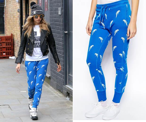 Cara Delevingne looking cool in Zoe Karssen statement trousers