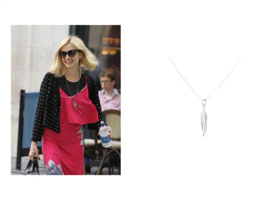 We spotted Fearne in this gorgeous feather necklace
