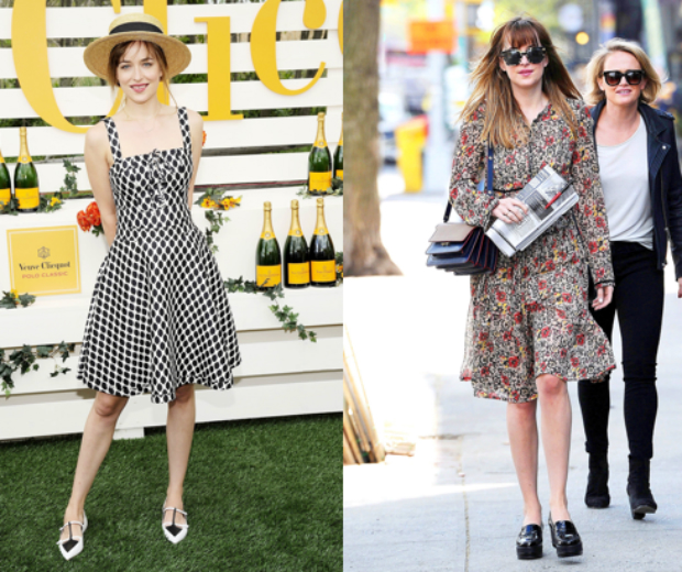 This summer we'll be channeling Dakota in a cute sundress and key accessories