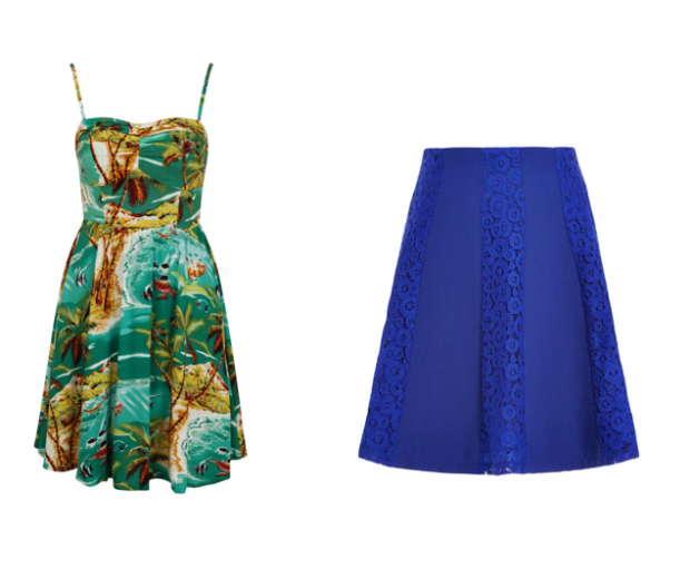 everything from skirts to Hawaiian print dresses are in the sale
