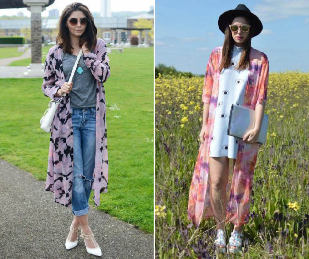 Our street stylistas take on kimonos for summer