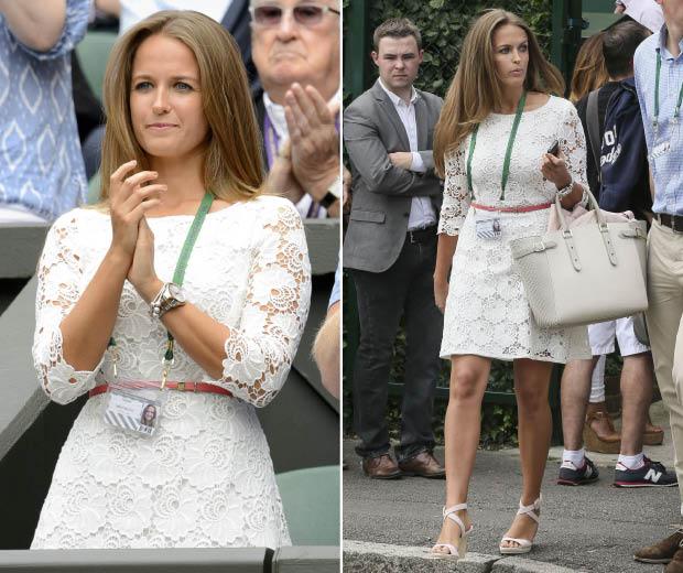 Kim Sears looks stunning in white Reiss dress at Wimbledon