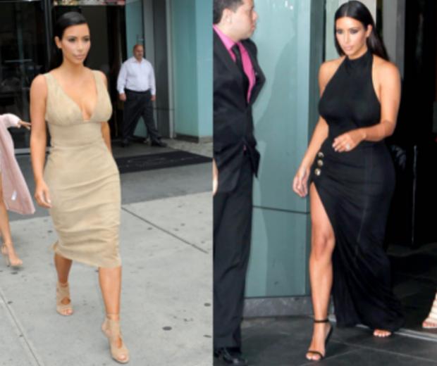 Kim Kardashian rocked two amazing designer dresses in one day