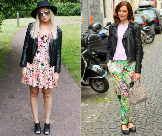 Leather and floral prints: possibly the coolest combo for summer!